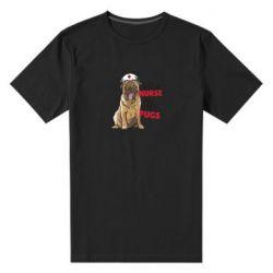 Мужская стрейчевая футболка Nurse loves pugs