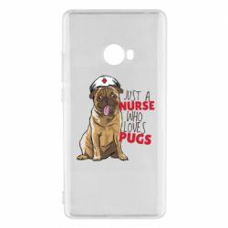 Чехол для Xiaomi Mi Note 2 Nurse loves pugs