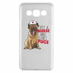 Чехол для Samsung A3 2015 Nurse loves pugs