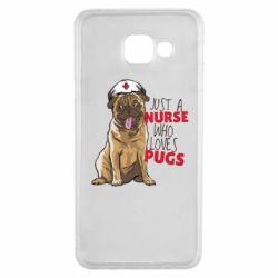 Чехол для Samsung A3 2016 Nurse loves pugs