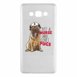 Чехол для Samsung A7 2015 Nurse loves pugs