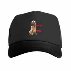 Кепка-тракер Nurse loves pugs