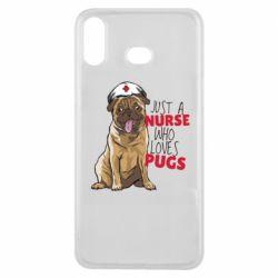 Чехол для Samsung A6s Nurse loves pugs