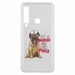 Чехол для Samsung A9 2018 Nurse loves pugs