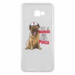 Чехол для Samsung J4 Plus 2018 Nurse loves pugs