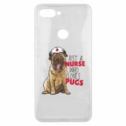 Чехол для Xiaomi Mi8 Lite Nurse loves pugs