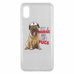 Чехол для Xiaomi Mi8 Pro Nurse loves pugs