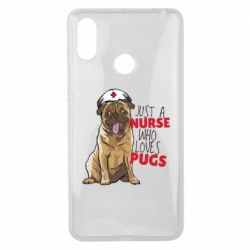 Чехол для Xiaomi Mi Max 3 Nurse loves pugs