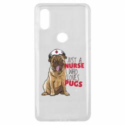 Чехол для Xiaomi Mi Mix 3 Nurse loves pugs