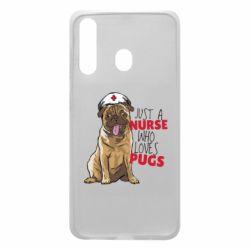 Чехол для Samsung A60 Nurse loves pugs
