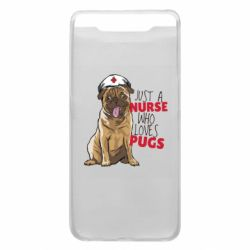 Чехол для Samsung A80 Nurse loves pugs