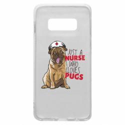Чехол для Samsung S10e Nurse loves pugs