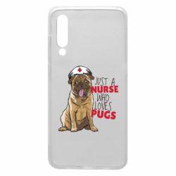 Чехол для Xiaomi Mi9 Nurse loves pugs