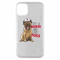 Чехол для iPhone 11 Pro Nurse loves pugs
