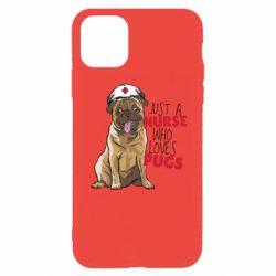 Чехол для iPhone 11 Pro Max Nurse loves pugs