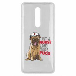 Чехол для Xiaomi Mi9T Nurse loves pugs