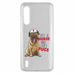 Чехол для Xiaomi Mi9 Lite Nurse loves pugs