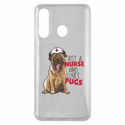 Чехол для Samsung M40 Nurse loves pugs