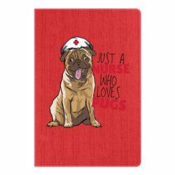 Блокнот А5 Nurse loves pugs
