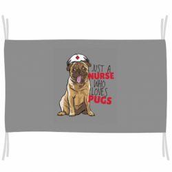 Флаг Nurse loves pugs