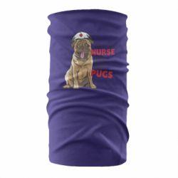 Бандана-труба Nurse loves pugs