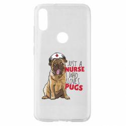 Чехол для Xiaomi Mi Play Nurse loves pugs