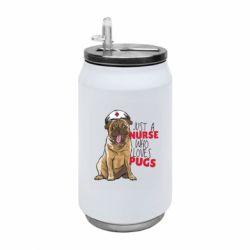 Термобанка 350ml Nurse loves pugs