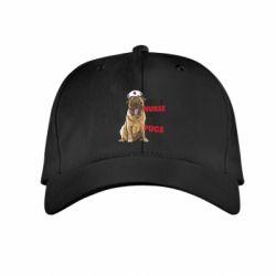 Детская кепка Nurse loves pugs