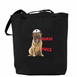 Сумка Nurse loves pugs