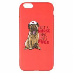 Чехол для iPhone 6 Plus/6S Plus Nurse loves pugs