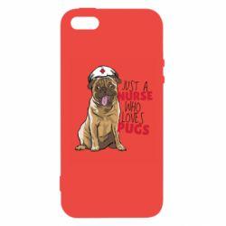 Чехол для iPhone5/5S/SE Nurse loves pugs