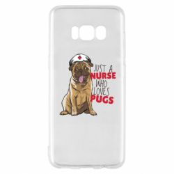 Чехол для Samsung S8 Nurse loves pugs