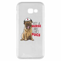 Чехол для Samsung A5 2017 Nurse loves pugs