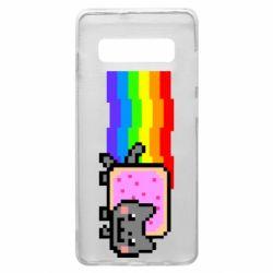 Чохол для Samsung S10+ Nyan cat
