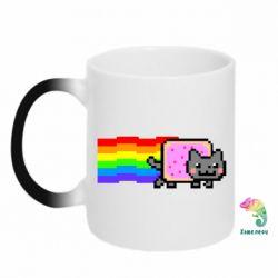 Кружка-хамелеон Nyan cat