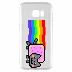 Чохол для Samsung S7 EDGE Nyan cat