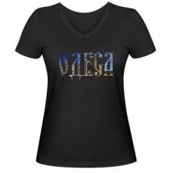 Женская футболка с V-образным вырезом Одеса - FatLine