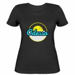 Женская футболка Odessa vector