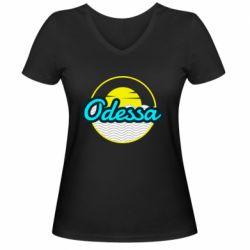 Женская футболка с V-образным вырезом Odessa vector