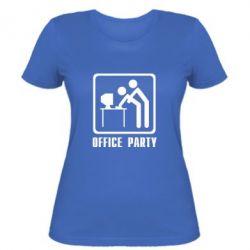 Женская футболка Office Party - FatLine