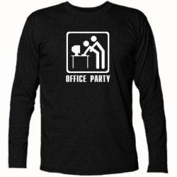 Футболка с длинным рукавом Office Party - FatLine