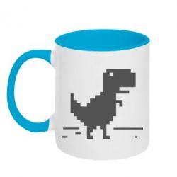 Кружка двухцветная Offline T-rex - FatLine