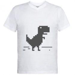 Мужская футболка  с V-образным вырезом Offline T-rex