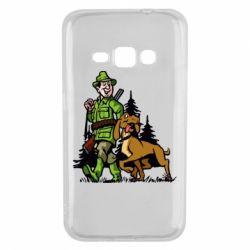 Чохол для Samsung J1 2016 Мисливець з собакою