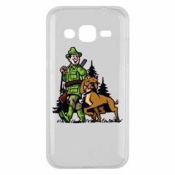 Чохол для Samsung J2 2015 Мисливець з собакою