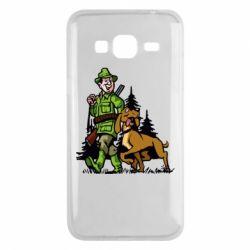 Чохол для Samsung J3 2016 Мисливець з собакою