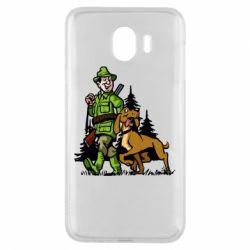 Чохол для Samsung J4 Мисливець з собакою