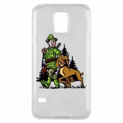 Чохол для Samsung S5 Мисливець з собакою
