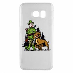 Чохол для Samsung S6 EDGE Мисливець з собакою