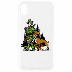 Чохол для iPhone XR Мисливець з собакою